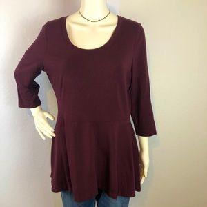 Isaac Mizrahi Peplum T Shirt, size Medium